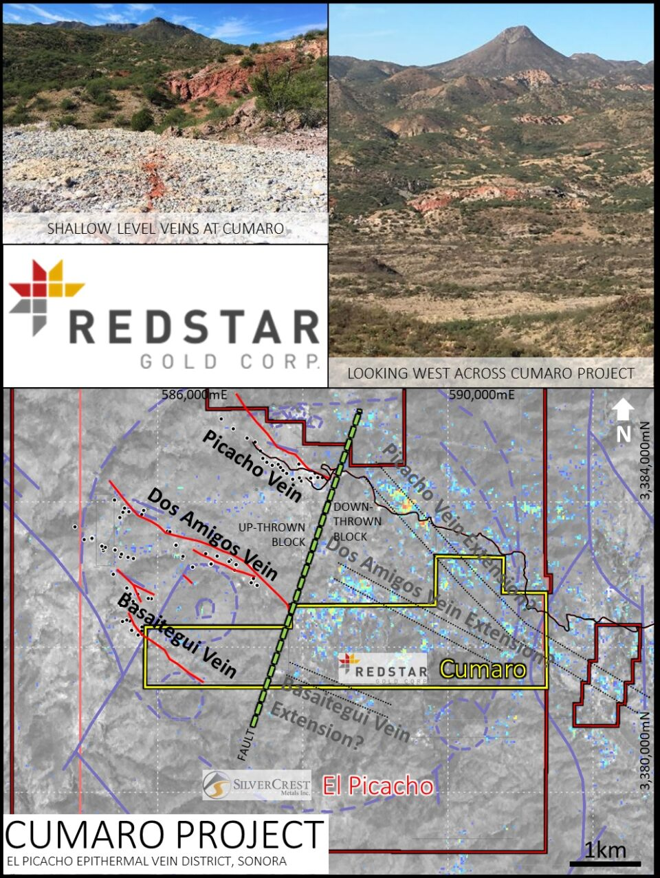 Redstar Gold resalta valía del proyecto Cumaro en México