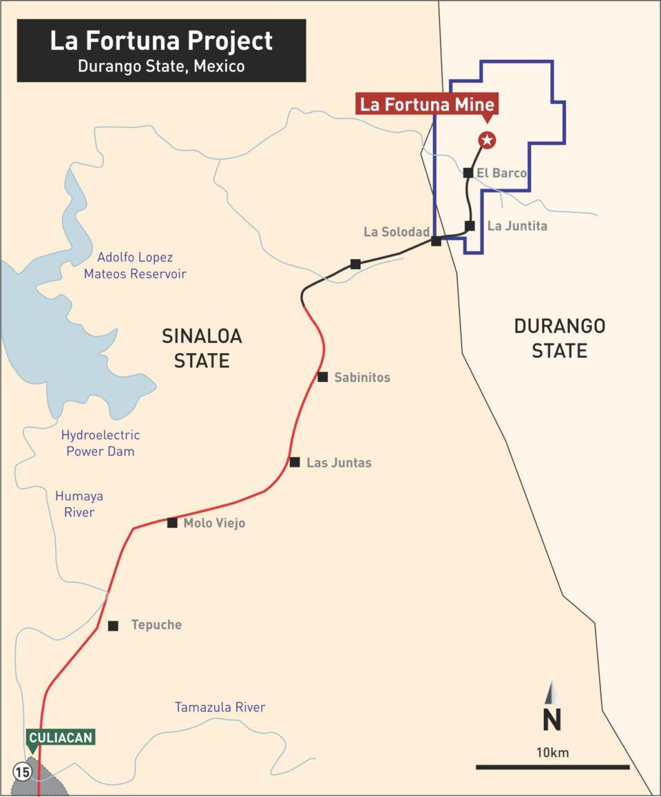 Minera Alamos recibe luz verde para proyecto de oro Fortuna en Durango