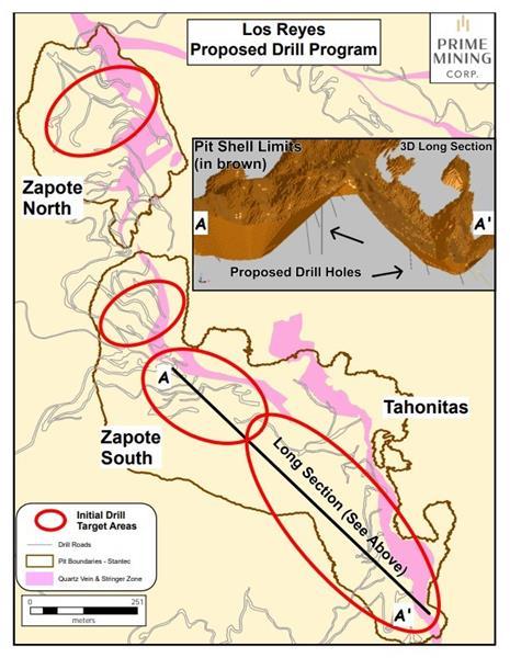 Prime Mining reporta altas leyes en proyecto Los Reyes en Sinaloa