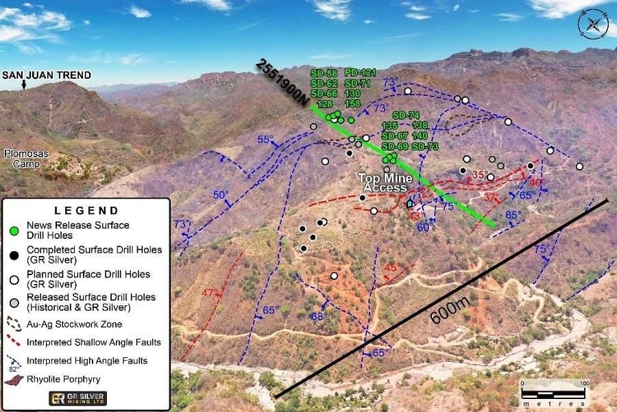 GR Silver descubre nueva mineralización de alta ley en Plomosas