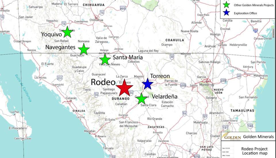 Golden Minerals estima mayor vida útil de su mina de oro Rodeo en Durango