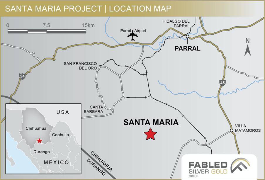 Fabled Silver Gold completa adquisición de mina Santa María en Chihuahua
