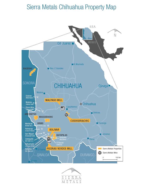 Sierra Metals planea duplicar capacidad de mina Cusi en Chihuahua