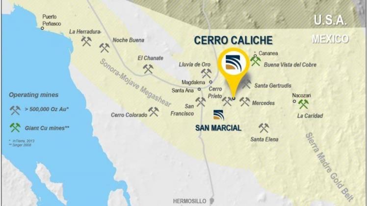 Sonoro Gold reporta zona de oro de alto grado en proyecto Cerro Caliche en Sonora
