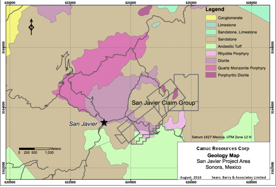 Canuc Resources inicia trabajos de perforación en proyecto San Javier en Sonora