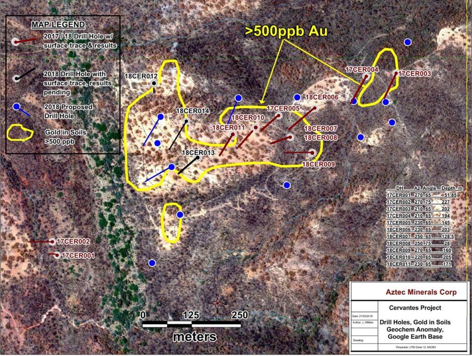 Aztec Minerals y Kootenay comienzan exploración en proyecto Cervantes en Sonora