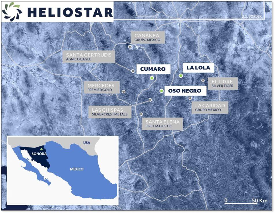 Heliostar Metals descubre vetas de plata de alta ley el Oso Negro en Sonora