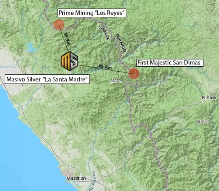 """Masivo Silver Corp. informó que está avanzado en su proyecto """"La Santa Madre"""" con un total de 1,971 hectáreas en San Ignacio, Sinaloa."""