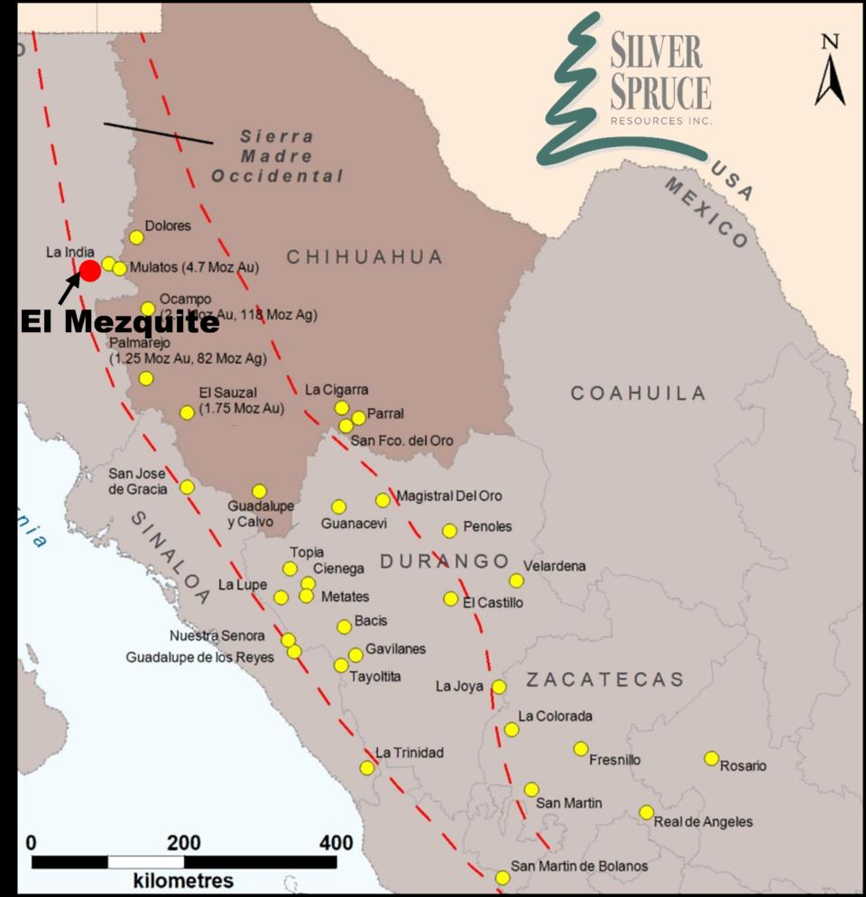Silver Spruce inicia segunda perforación en El Mezquite