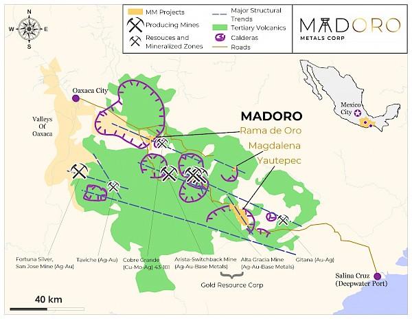 Madoro Metals anuncia descubrimiento minero en Yautepec Oaxaca
