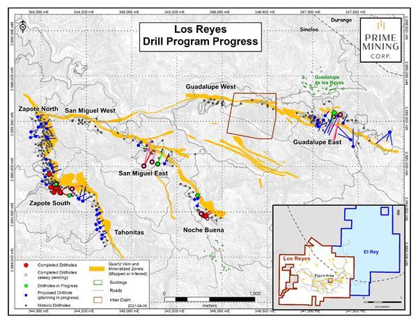 Prime Mining encuentra oro a de calidad en Sinaloa