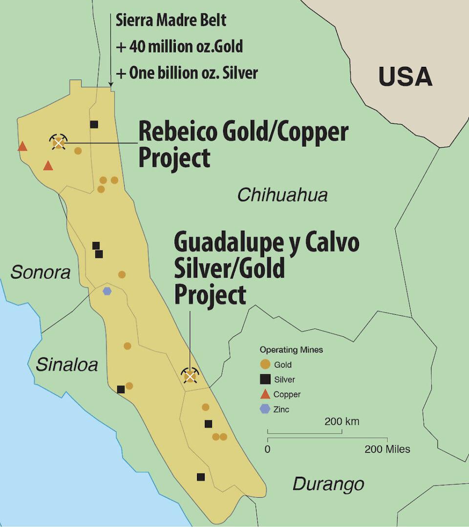 Ridgestone Mining presentó una sólida estimación inicial de recursos en su proyecto de oro y plata Guadalupe y Calvo, en Chihuahua.