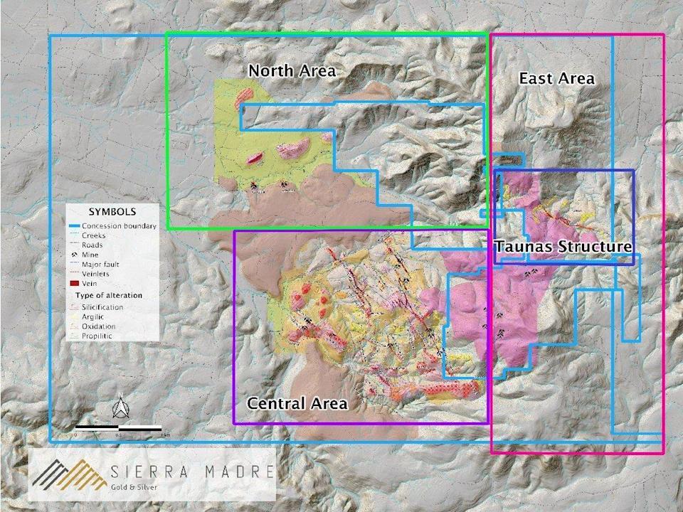 Sierra Madre Gold inicia perforación en proyecto Tepic Silver Gold