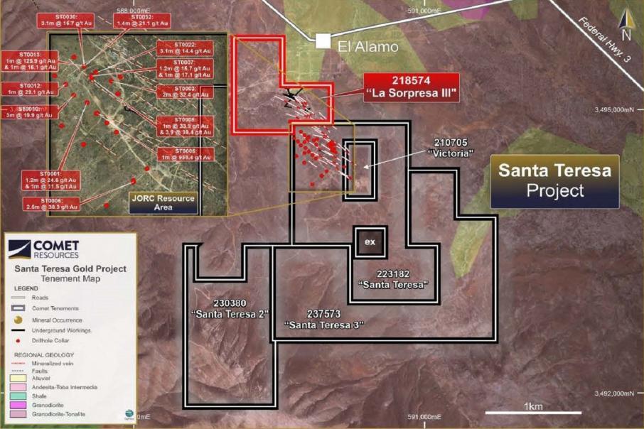 Comet comienza perforación de proyecto de oro Santa Teresa