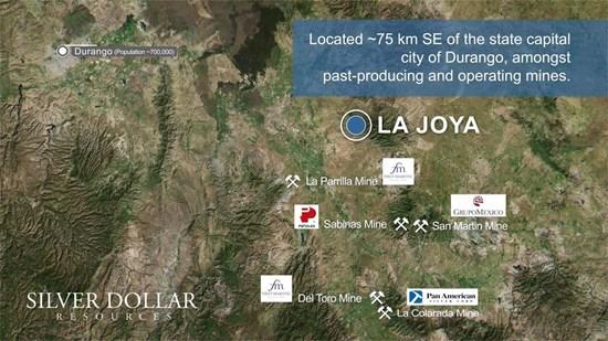 Silver Dollar Resources presentó una solicitud de permiso de perforación para el proyecto de plata La Joya en Durango