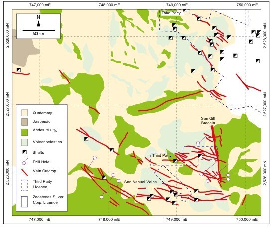 Zacatecas Silver completa mapeo geológico en San Manuel