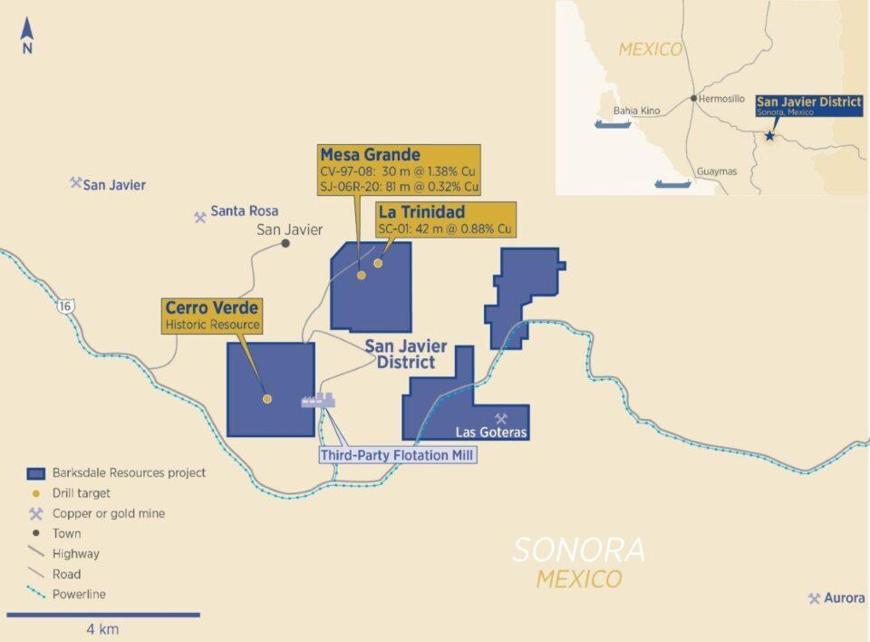 Barksdale Resources comienza a perforar en Sonora