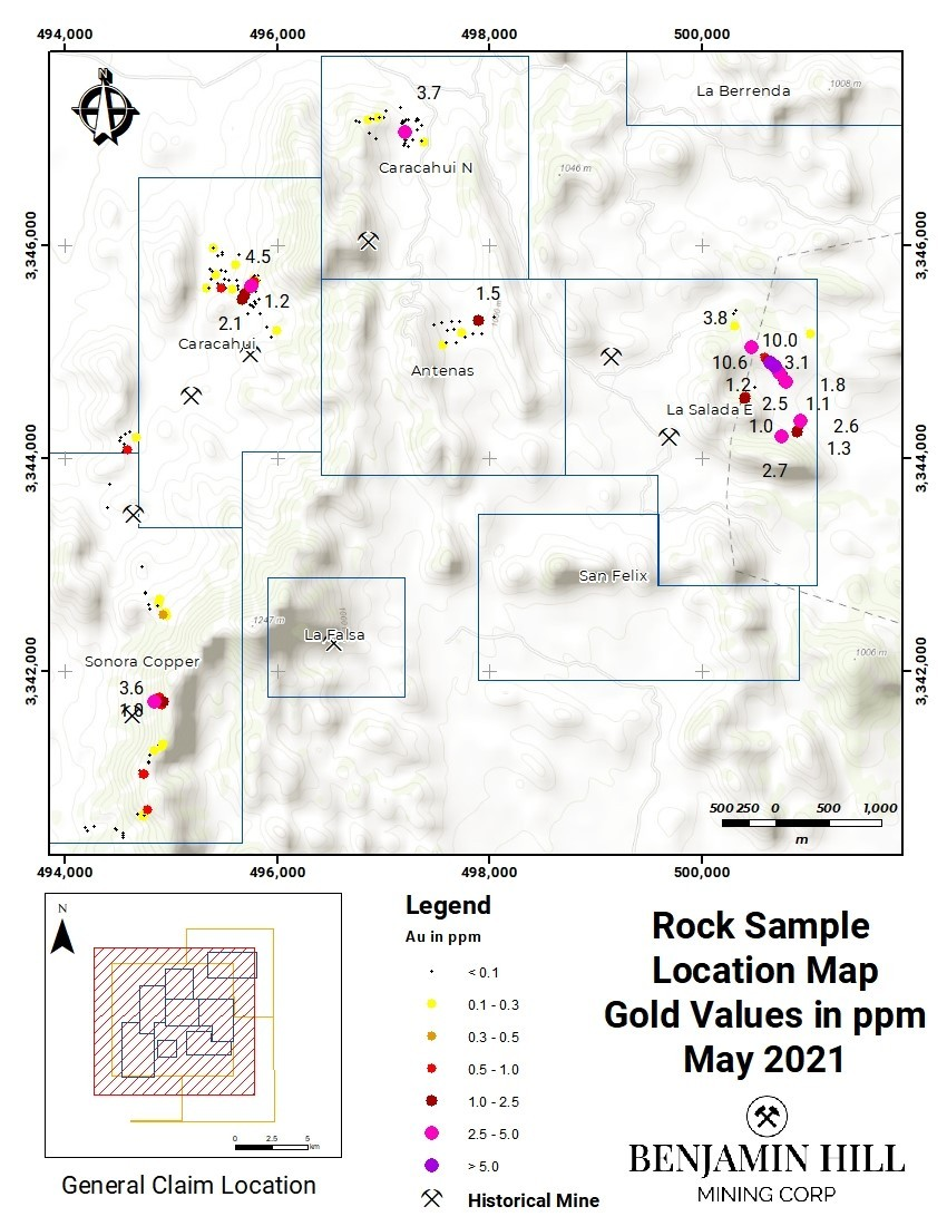 Benjamin Hill Mining descubre mineralización de cobre en Sonora