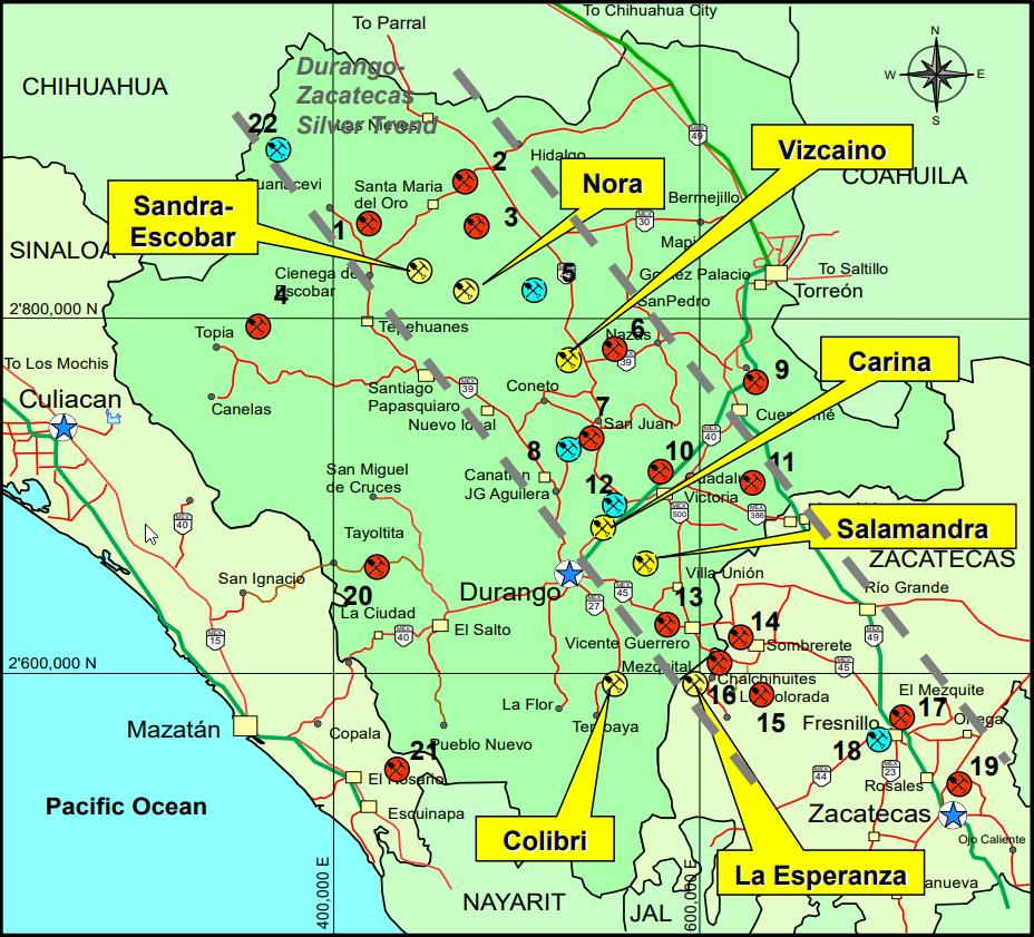 Canasil inicia proyecto de plata-oro en Durango