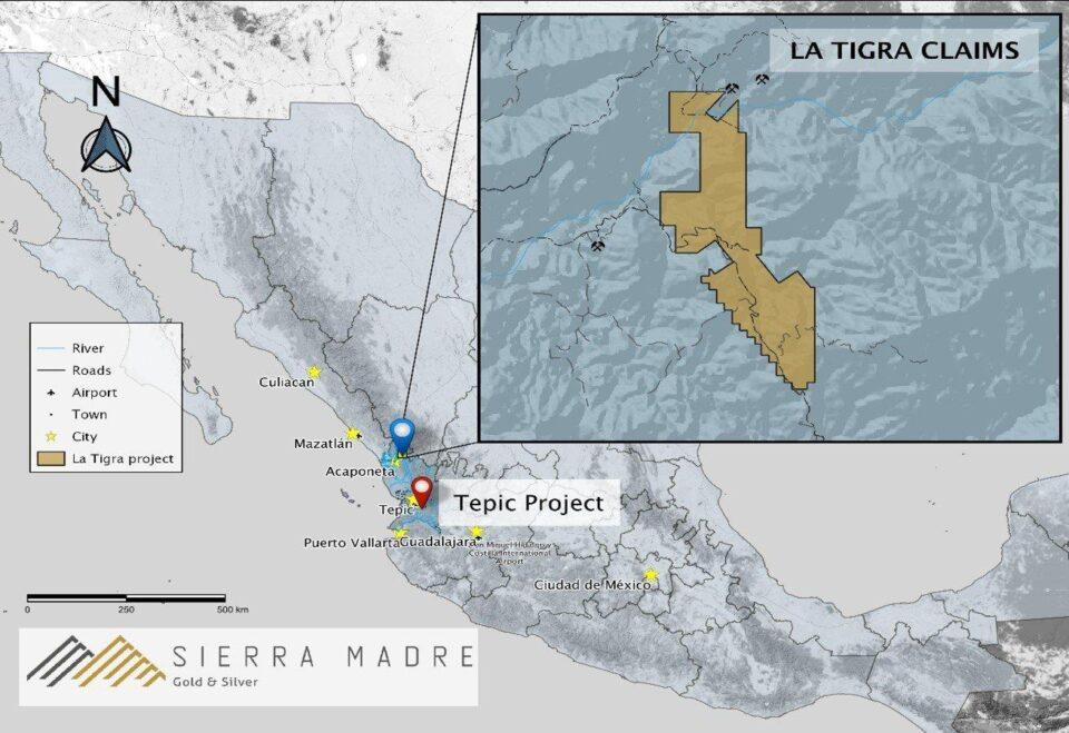 Sierra Madre adquiere proyecto La Tigra en Nayarit